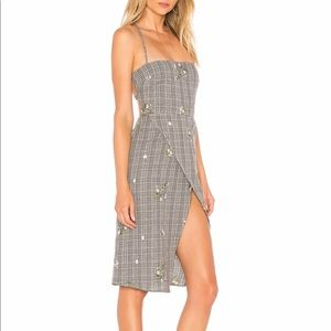 Majorelle Midi Dress, tie back with slit